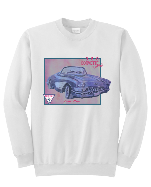 1960 corvette convertible sweatshirt  SU