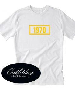 1970 Yellow Font T shirt