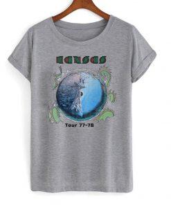 1970's KANSAS vintage concert 1977-78 TOUR vintage band T Shirt Ez025