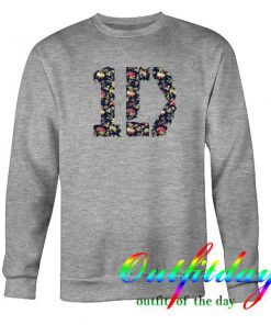 1D One Direction Floral Logo Sweatshirt