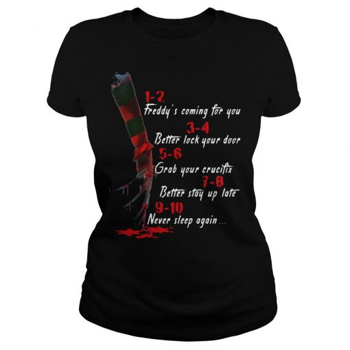 A Nightmare On Elm Street Hand 1 2 Freddy's Coming For You T-Shirt  SU
