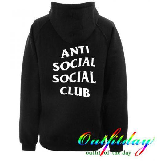 Anti social social club hoodie back
