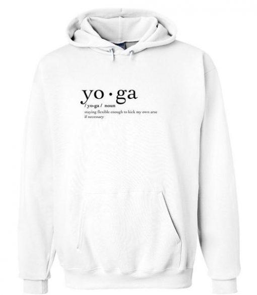 YO GA noun staying flexsible Hoodie Ez025