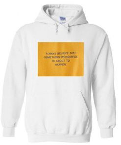 always believe that something wonderful is about to happen hoodie  SU