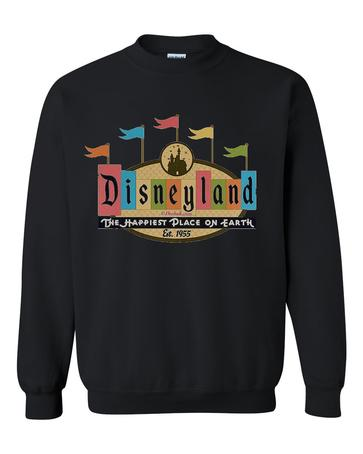 disneyland the happiest place on earth sweatshirt  SU