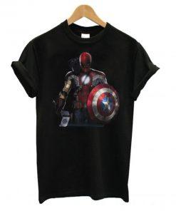 Captain America Ironman Thor Spiderman and Hawkeye T shirt