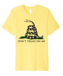 Don't Tread On Me Liberterian Tea Party Gadsden Flag T shirt