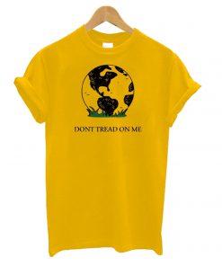 Earth Gadsden Flag – Don't Tread on Me T shirt