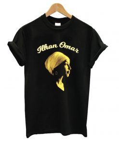 Ilhan Omar In Buttercup And Cream On Black T shirt