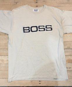 Vtg 90s Boss big logo shirt