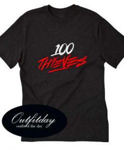100 Thieves T Shirt Size XS,S,M,L,XL,2XL,3XL