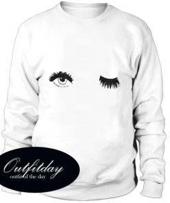 Winky Eye Print Sweatshirt