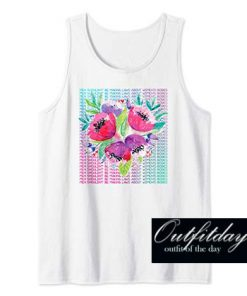Womens Floral Tank Top
