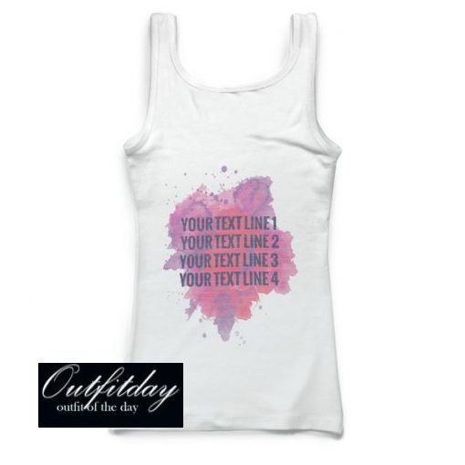 Your Text Line Tank Top
