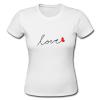 Letter Print Love Tee Shirt