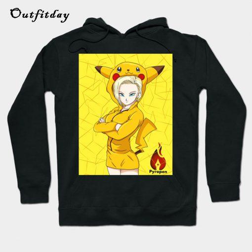 18 wearing Pikachu Hoodie B22