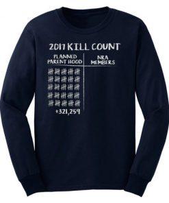 2017 Kill Count Sweatshirt