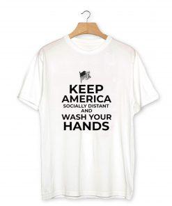 Keep America Socially Distant T-Shirt PU27