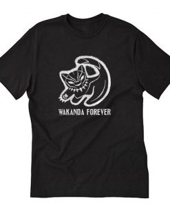 Black cat Black Panther Wakanda Forever T-Shirt PU27