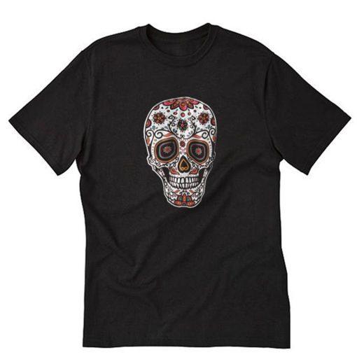 Ornamental sugar skull T-Shirt PU27