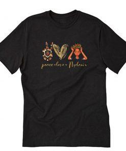 Peace Love Melanin African American T-Shirt PU27